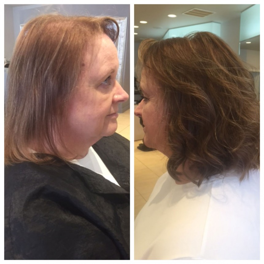 Gallery salon toujours hair stylist women men ridgewood nj before and after the tape on extension pmusecretfo Gallery